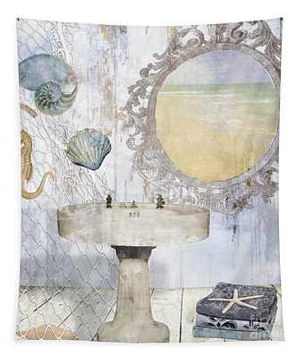 Beach House Bath II Tapestry
