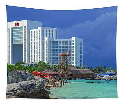 Beach Life In Cancun Tapestry