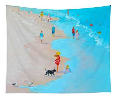 Beach Painting - Beach Day - By Jan Matson Tapestry
