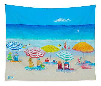 Beach Painting - Catching The Breeze Tapestry