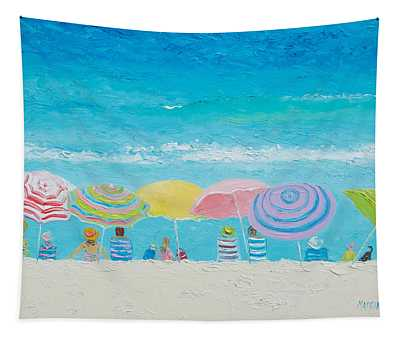 Beach Painting - Color Of Summer Tapestry