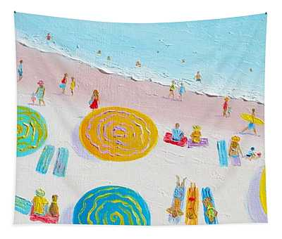 Beach Painting - The Simple Life Tapestry