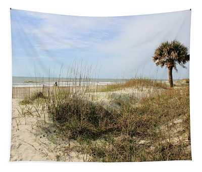 Beach Path Tapestry