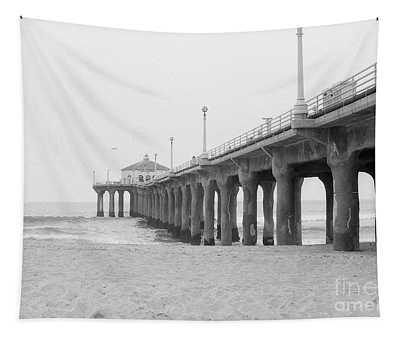 Beach Pier Film Frame Tapestry