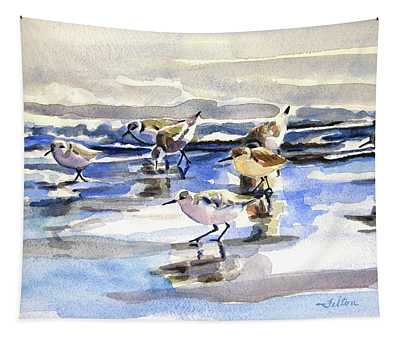 Beach Sandpipers  Tapestry