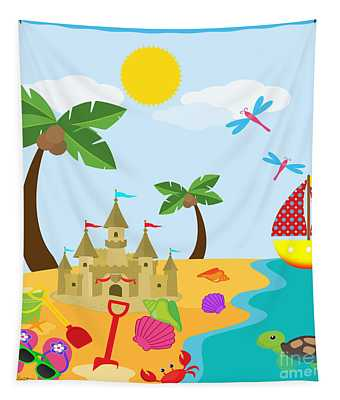 Beach Time-jp2986 Tapestry