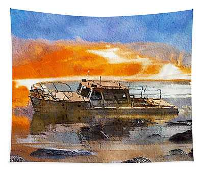 Beached Wreck Tapestry