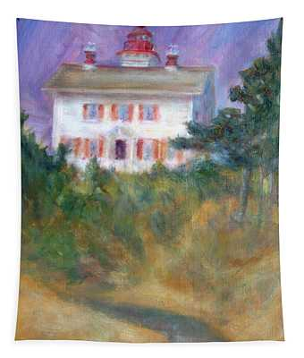 Beacon On The Hill - Lighthouse Painting Tapestry