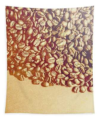 Bean Background With Coffee Space Tapestry