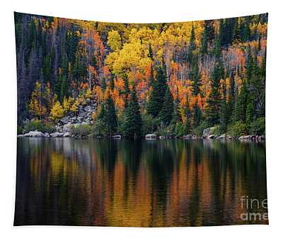 Bear Lake Autumn Reflections Tapestry
