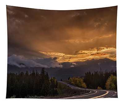 Beartooth Highway Sunset Wyoming Tapestry