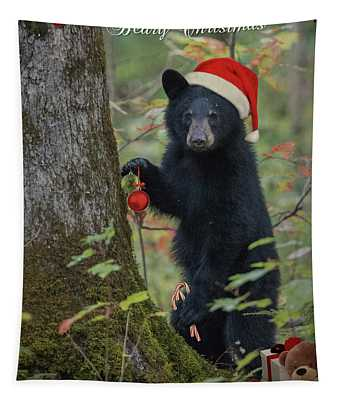 Beary Christmas Card Tapestry
