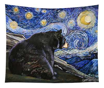 Beary Starry Nights Tapestry