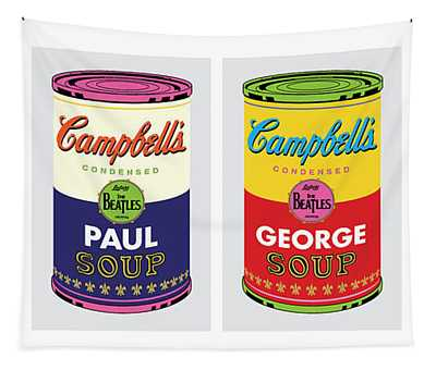 Beatle Soup Cans Tapestry