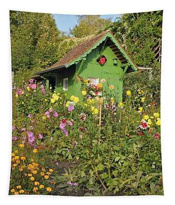 Beautiful Colorful Flower Garden Tapestry