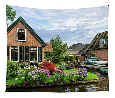 Beautiful Dutch Town Giethoorn Tapestry