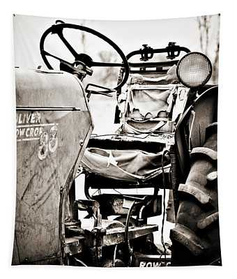 Beautiful Oliver Row Crop Old Tractor Tapestry
