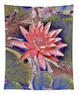 Beautiful Pink Lotus Abstract Tapestry