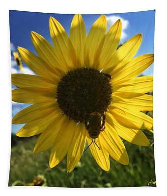 Bee And Sunflower Tapestry