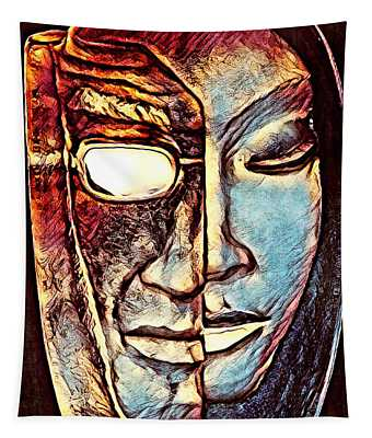 Behind The Mask Tapestry