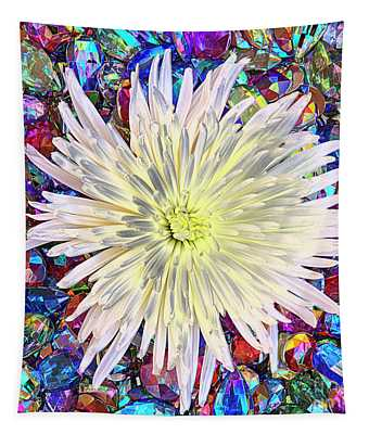 Bejeweled Flower Tapestry