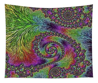Bejeweled Fractal Abstract Tapestry