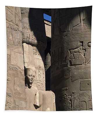 Belief In The Hereafter - Luxor Karnak Temple Tapestry