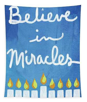 Believe In Miracles- Hanukkah Art By Linda Woods Tapestry