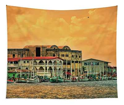 Belize City Harbor Tapestry