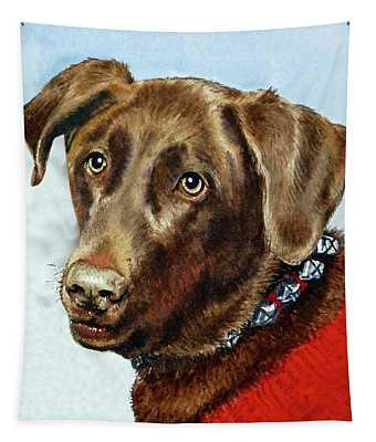 Beloved Dog Portrait  Tapestry