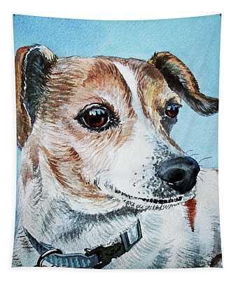 Beloved Puppy Dog Tapestry