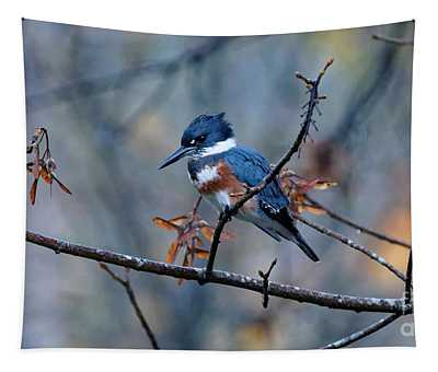 Belted Kingfisher Perch Tapestry