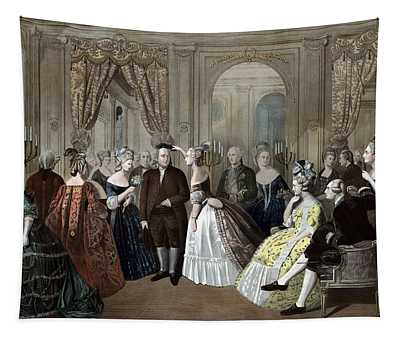 Ben Franklin's Reception At The Court Of France  Tapestry