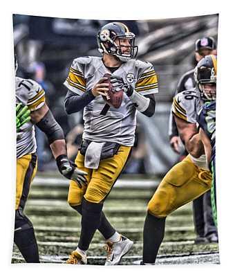 Ben Roethlisberger Pittsburgh Steelers Art Tapestry