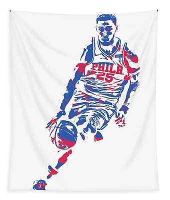 Ben Simmons Philadelphia Sixers Pixel Art 1 Tapestry