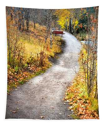 Bench On A Hill Tapestry