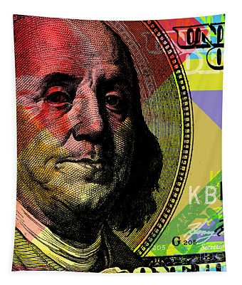 Benjamin Franklin - $100 Bill Tapestry