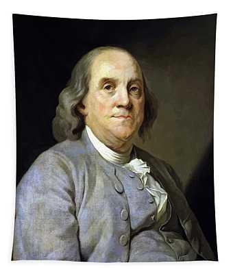 Benjamin Franklin Painting Tapestry