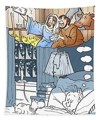 Nativity Selfie Tapestry