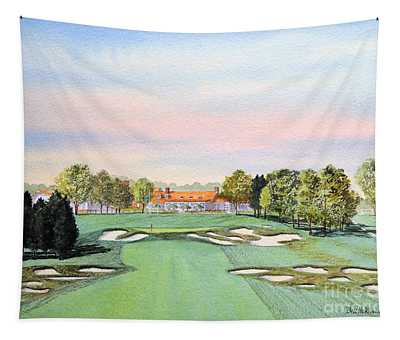 Bethpage State Park Golf Course 18th Hole Tapestry