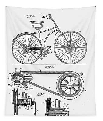 Bicycle Patent 1890 Tapestry