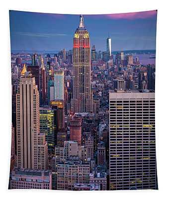 Big Apple Twilight Tapestry