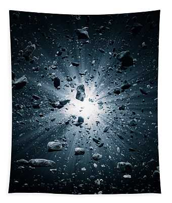 Big Bang Explosion In Space Tapestry