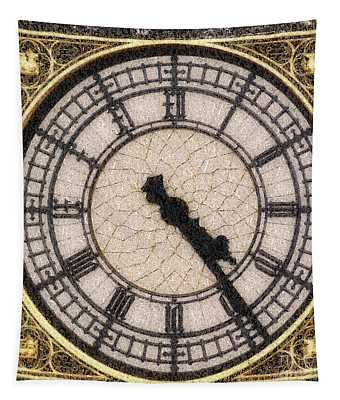 Big Ben Clock Color By Numbers 20161115 Tapestry
