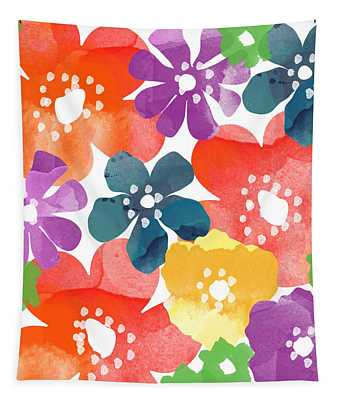 Big Bright Flowers Tapestry