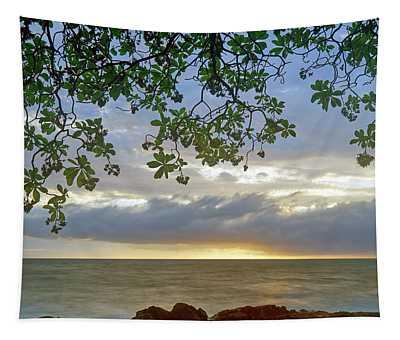 Big Island Sunset Tapestry
