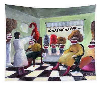 Big Wigs And False Teeth Tapestry