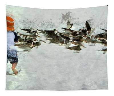 Bird Play Tapestry