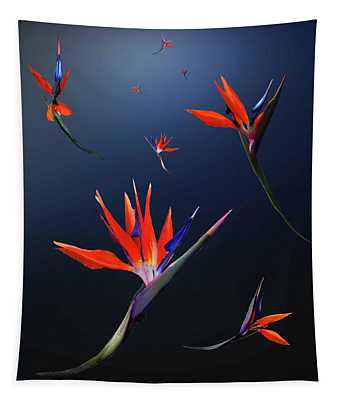 Birds Of Paradise Tapestry