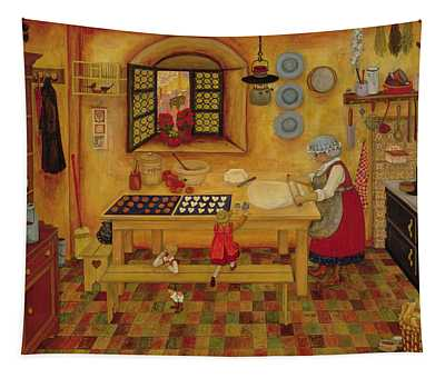 Biscuit Baking Day Tapestry